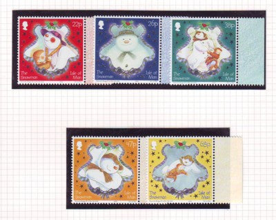 Isle of Man Scott  1008-12 2003 Christmas stamp set mint NH