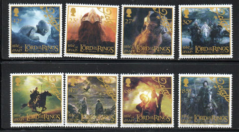 Isle of Man Scott  1013-20 2003 Lord of the Rings stamp set mint NH