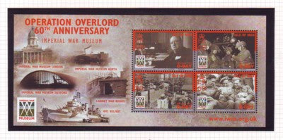 Isle of Man Scott  1032 2004 D Day Landings stamp souvenir sheet mint