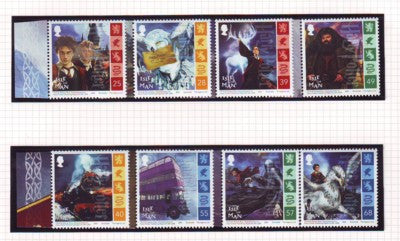 Isle of Man Scott  1074-81 2004 Harry Potter stamp set mint NH