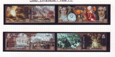 Isle of Man Scott  1082-5 2005 Battle of Trafalgar stamp set mint NH