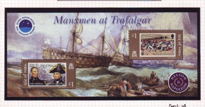 Isle of Man Scott 1086 2005 Battle of Trafalgar stamp souvenir sheet mint NH