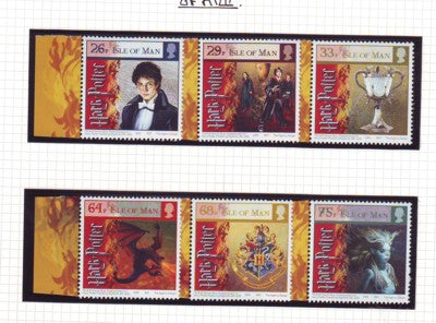 Isle of Man Scott 1121-26 2005 Harry Potter & Goblet of Fire stamp set mint NH