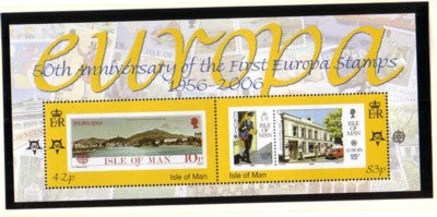 Isle of Man Scott 1144 2006 50th Anniversary Europa stamps stamp souvenir sheet mint NH