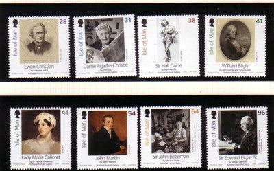 Isle of Man Scott  1163-70 2006 National Gallery stamp set mint NH