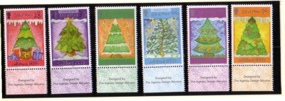 Isle of Man Scott  1172-7 2006 Christmas stamp set mint NH