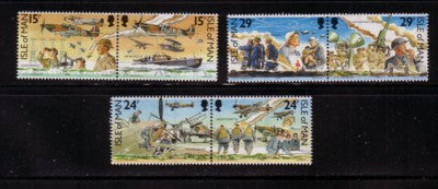 Isle of Man Scott 426-31 1990 Battle of Britain stamp set mint NH