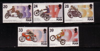 Isle of Man Scott 562-6 1993 Motorcycles stamp set mint NH