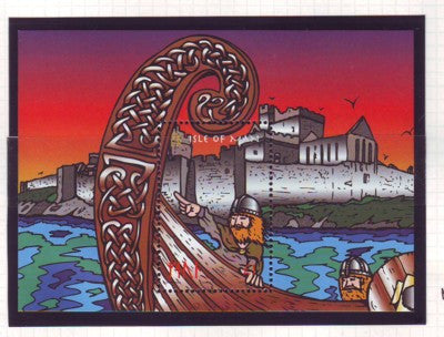 Isle of Man Scott  775 1998  Viking Longships stamp sheet mint NH