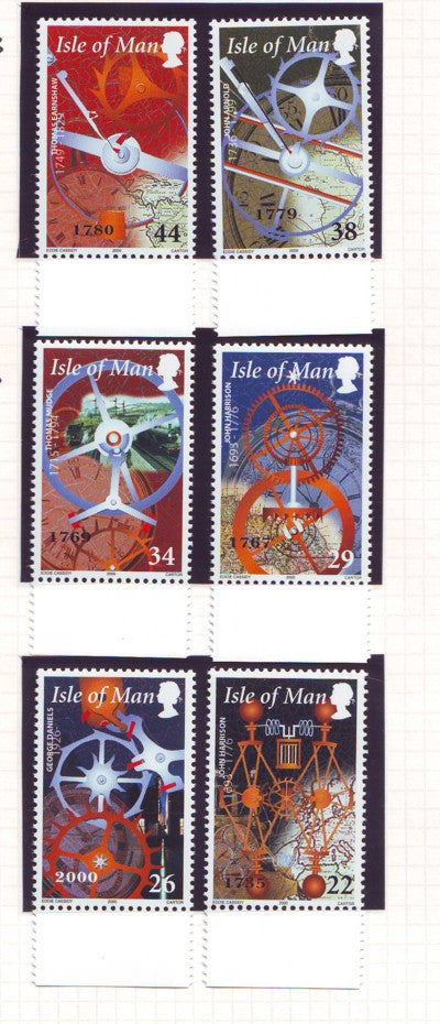 Isle of Man Scott  851-6 2000 History of Time stamp set mint NH