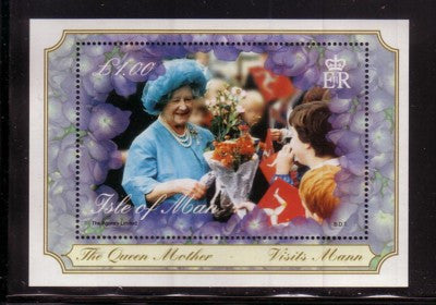 Isle of Man Scott  859 2000 Queen Mother 100 stamp sheet mint NH