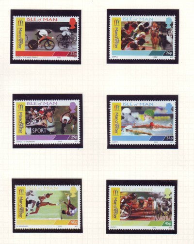 Isle of Man Scott  942-7 2002  Commonwealth Games stamp set mint NH