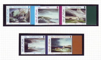 Isle of Man Scott  949-53 2002  Toni Onley Paintings stamp set mint NH
