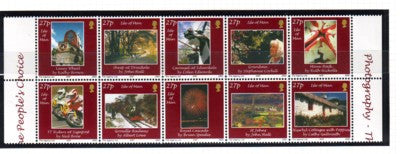 Isle of Man Scott  966 2002  27p Local Scenes stamp block of 10 mint NH