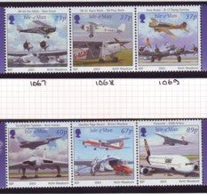 Isle of Man Scott  987-8 2003 100 Years Powered Flight stamp set mint NH