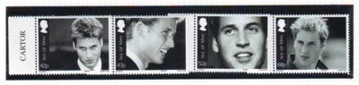 Isle of Man Scott  990-93 2003 21st Birthday Prince William stamp set mint NH