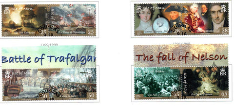 Isle of Man Scott  1082-5 2005 Battle of Trafalgar stamp set used