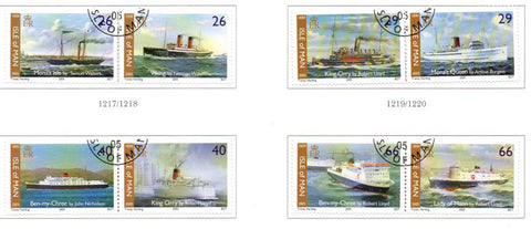 Isle of Man Scott  1092-5 2005 Steam Packet Co stamp set used