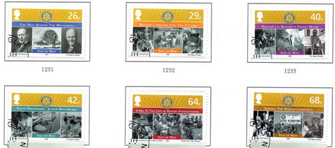 Isle of Man Scott  1102-7 2005 Europa, Rotary, stamp set used