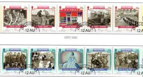 Isle of Man Scott  1108-9 2005 Everyday Life stamp set used