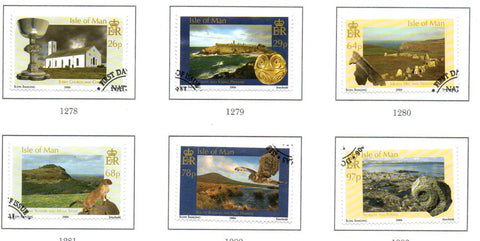 Isle of Man Scott  1135-40 2006 Natural History  stamp set used