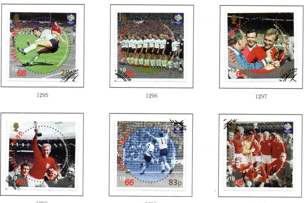 Isle of Man Scott  1145-50 2006 World Cup stamp set used