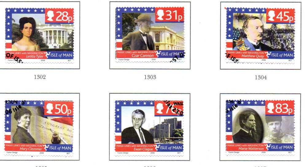 Isle of Man Scott  1157-62 2006 Peel Cars stamp set used