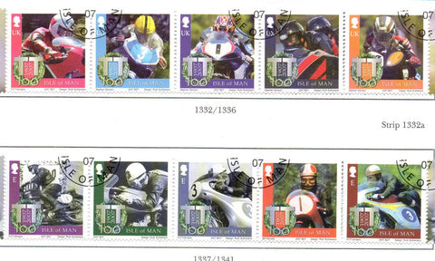 Isle of Man Scott  1180-1 2007 TT Motorcycle Races stamp set  used