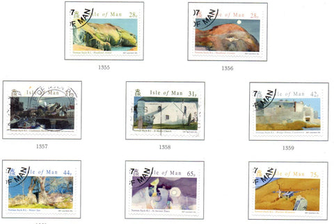 Isle of Man Scott  1190-7 2007 Sayle Watercolour Paintings stamp set used