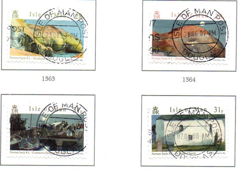 Isle of Man Scott  1198-1201 2007 Sayle Watercolour Paintings stamp set used