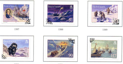 Isle of Man Scott  1221-26 2007  International Polar Year stamp set used