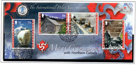 Isle of Man Scott  1227 2007  International Polar Year Canada  stamp sheet used