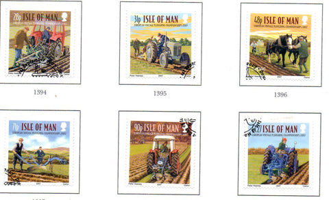 Isle of Man Scott  1228-33 2007  Ploughing Championship  stamp set used
