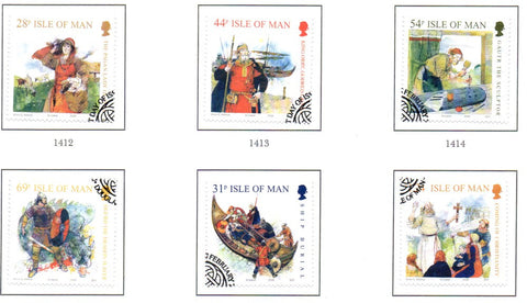 Isle of Man Scott  1246-51 2008 Vikings stamp set  used
