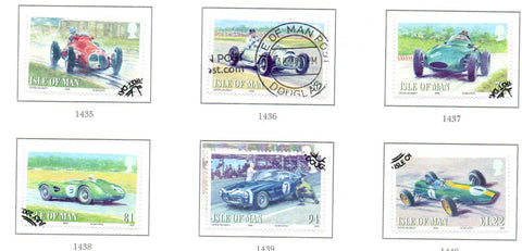 Isle of Man Scott  1268-73 2008 Car Racing stamp set  used