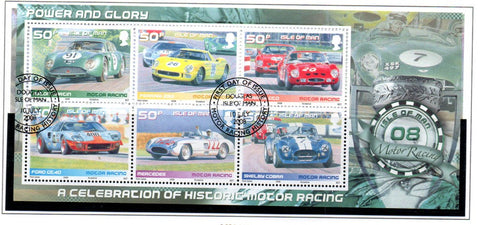 Isle of Man Scott  1274 2008 Car Racing stamp sheet  used