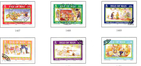 Isle of Man Scott  1290-95 2008 Christmas stamp set  used
