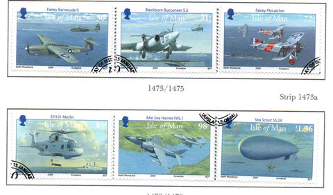 Isle of Man Scott  1299-1300 2009  Naval Aviation stamp set  used