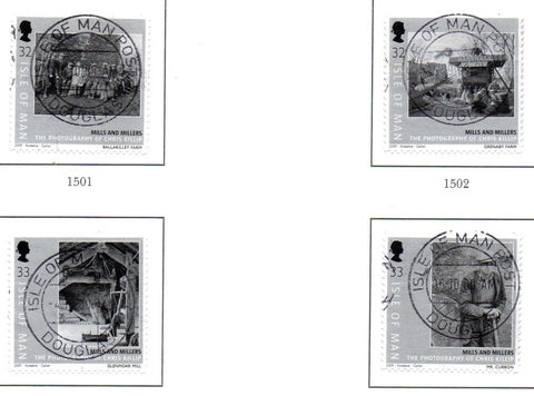 Isle of Man Scott  1307-10 2009 Mills & Millers self adhesive stamp set  used