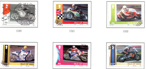 Isle of Man Scott  1319-24 2009  Honda Motorcycles stamp set  used