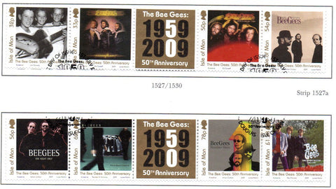 Isle of Man Scott  1326-7 2009  Bee Gees stamp set  used