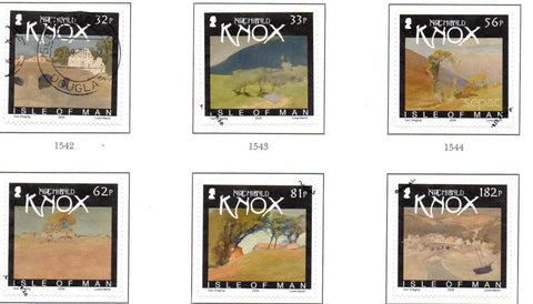 Isle of Man Scott  1334-39 2009  Knox Watercolours stamp set  used
