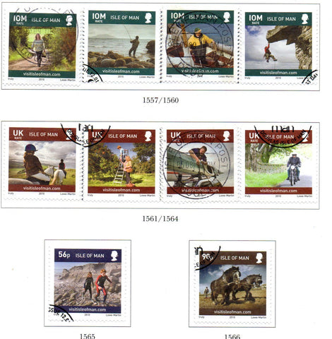 Isle of Man Scott  1349-52 2010 Island Life stamp set  used