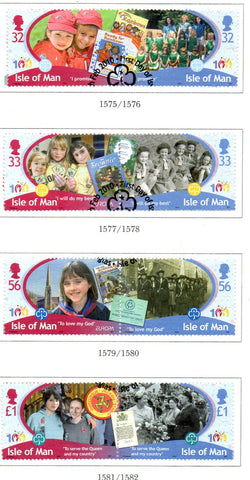 Isle of Man Scott  1361-64 2010 Girl Guides stamp set  used