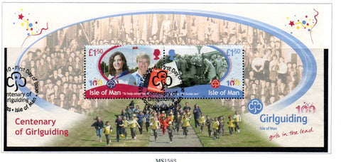 Isle of Man Scott  1365 2010 Girl Guides stamp sheet  used