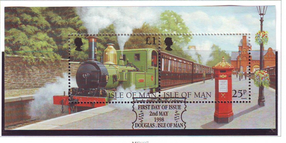 Isle of Man Scott  785 1998  Steam Railway stamp sheet used