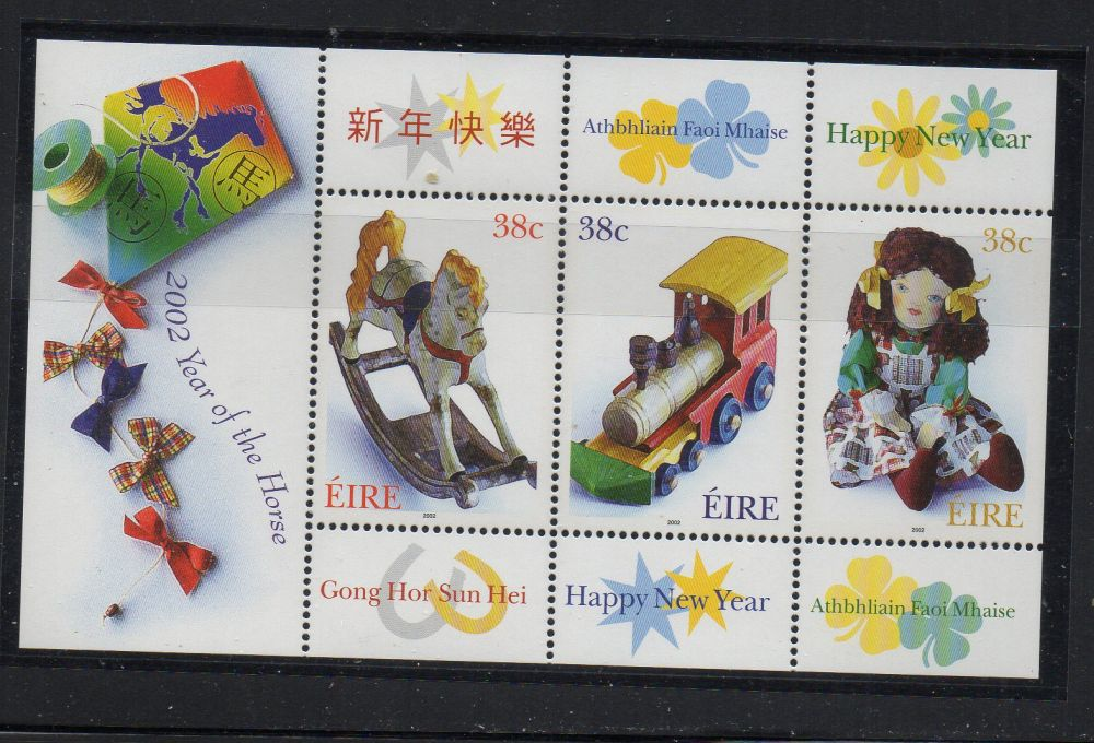 Ireland Scott 1378 2002 toys stamp sheet mint NH