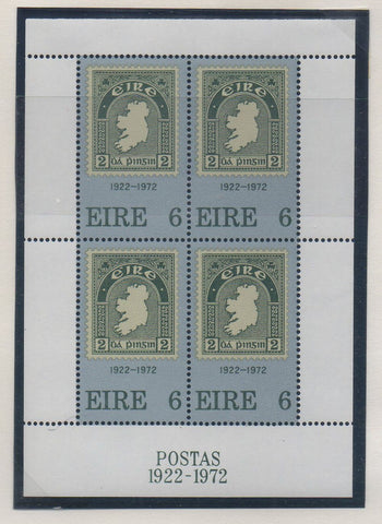 Ireland Scott 326a 1972 50th Anniversary stamps stamp sheet mint