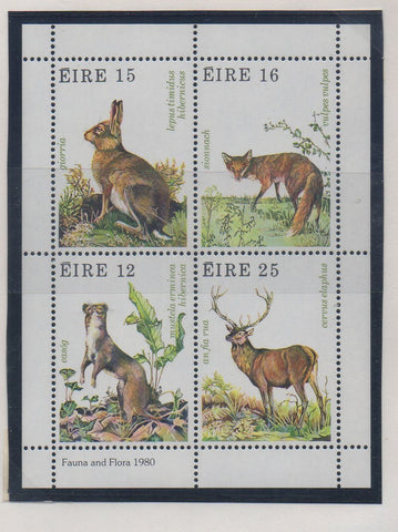 Ireland Scott 483a 1980 Wildlife stamp sheet mint
