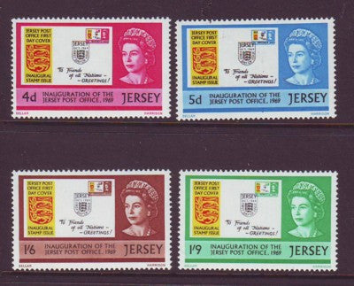 Jersey Sc 22-5 1969  Postal Independence stamp set mint NH